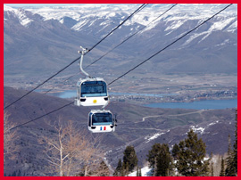 Snowbasin Gondola; photo by Mitch Kaplan