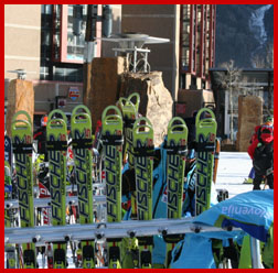 Slovenian team skis; photo by Tammie Thompson