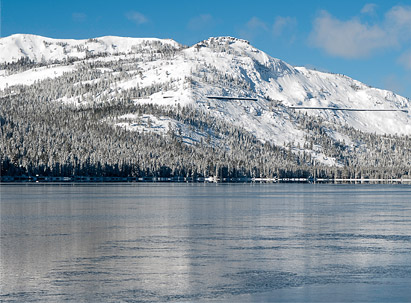 Donner Peak From Donner Lake