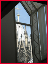 Cologne Cathedral looking from Museum Ludwig window; photo by Mitch Kaplan