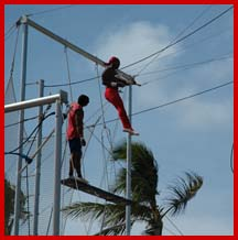 Punta Cana, trapeze; photo by J. Ammeson