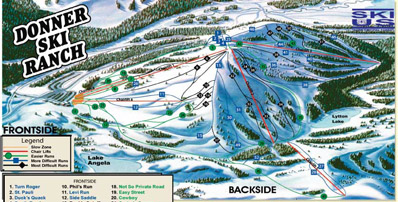 Trail Map - Donner Ski Ranch, Lake Tahoe, California