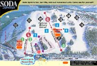 Trail Map - Soda Springs, Lake Tahoe, California