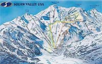 Trail Map - Squaw Valley Ski Resort, Lake Tahoe, California