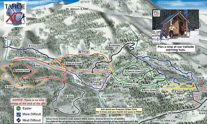 Trail Map - Royal Gorge, Lake Tahoe, California